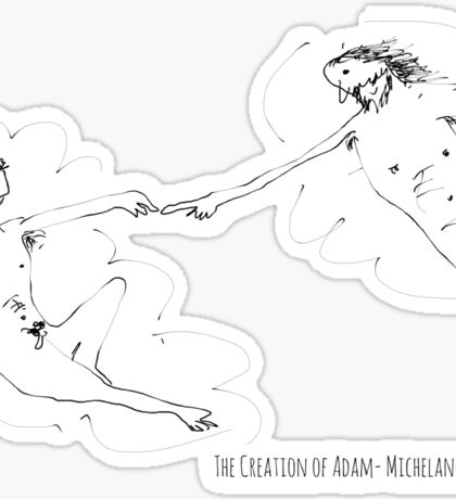 The Creation of Adam- Michelangelo Sticker