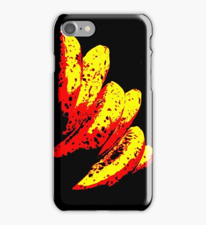 Primary Colour Banana Bunch Motif iPhone Case/Skin