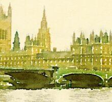 Parliament and Big Ben Sticker