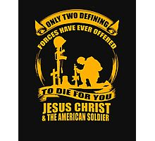 Two Defining Forces Jesus Christ and the American Soldier Photographic Print