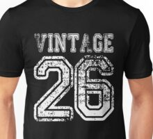 Vintage 26 2026 1926 T-shirt Birthday Gift Age Year Old Boy Girl Cute Funny Man Woman Jersey Style Unisex T-Shirt