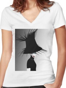 lady d 4 Women's Fitted V-Neck T-Shirt