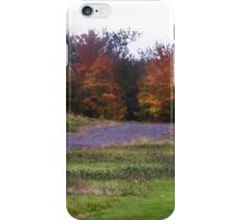 Leaving Lac Brome, Quebec, Canada, October 2014  iPhone Case/Skin