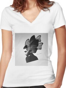 lady d Women's Fitted V-Neck T-Shirt