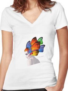 lady d 6 Women's Fitted V-Neck T-Shirt
