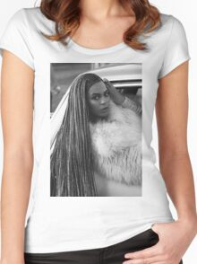 Ok ladies now let's get in formation!  Women's Fitted Scoop T-Shirt