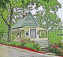 An old home in Eureka Springs, Arkansas by Graeme  Hyde