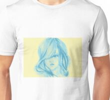 Colors of Imagination in her hair. Hand painted watercolor illustration Unisex T-Shirt