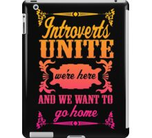 Introverts Unite iPad Case/Skin