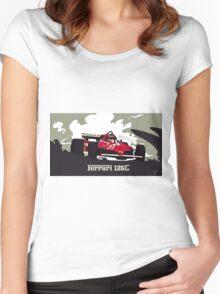 Formula 1 - Ferrari 126C Gilles Villeneuve Women's Fitted Scoop T-Shirt