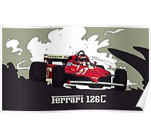 Formula 1 - Ferrari 126C Gilles Villeneuve Poster