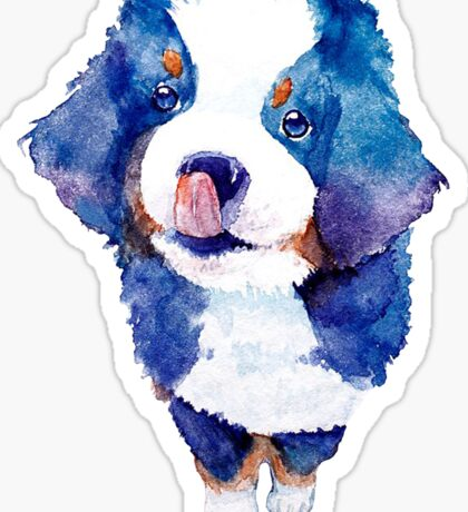 Cute watercolor Puppy Sticker