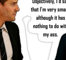 Booth and Brennan - Smart Ass Sticker