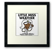 Little Miss Weather Framed Print