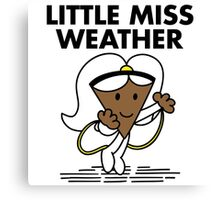 Little Miss Weather Canvas Print