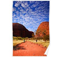 Clouds over The Olgas Poster