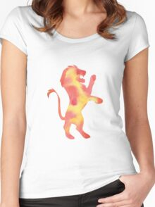 House Lion Watercolor Women's Fitted Scoop T-Shirt