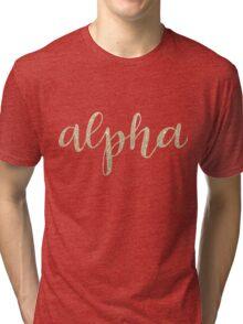 alpha gold Tri-blend T-Shirt