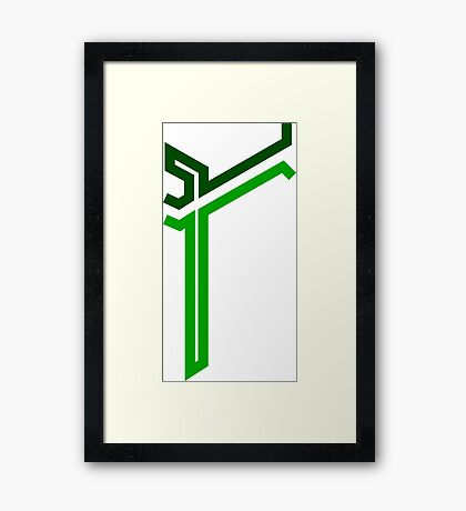 WipEout Pulse Style Mirage Logo - Vertical Framed Print