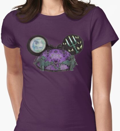 Haunted mansion ear hat ornament  Womens Fitted T-Shirt