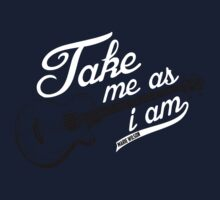 Take Me As I Am - White Writing by Marie Wilson