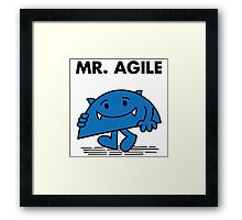 Mr. Agile Framed Print