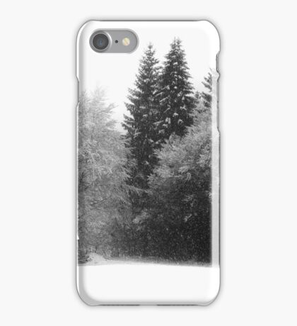 Snowflakes and a little Hut iPhone Case/Skin