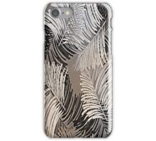 Abstract, Black, Gold, Silver Feathers iPhone Case/Skin
