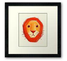 Sad lion Framed Print