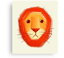 Sad lion Canvas Print