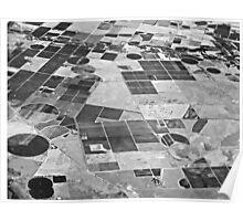 Crop Circles and Squares Poster