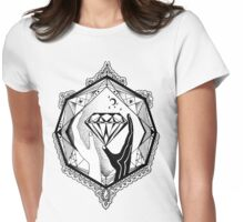Abstract composition with diamond in human hands Womens Fitted T-Shirt
