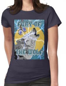 Fury of the Wolf Womens Fitted T-Shirt