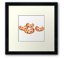 Glitch Beans bean spice Framed Print