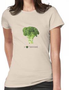 Broccoli - I love veggies Womens Fitted T-Shirt