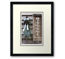 All Hearts Come Home for Christmas Framed Print