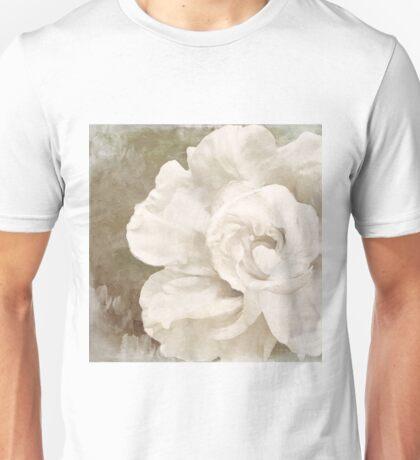 Petals Impasto White Unisex T-Shirt