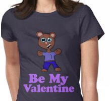 Be My Valentine Bear Cub  Womens Fitted T-Shirt