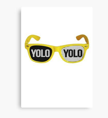 Yolo goggles Canvas Print
