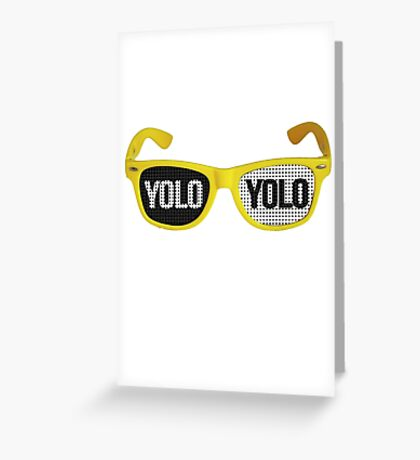 Yolo goggles Greeting Card