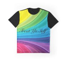 Treat yo Self Rainbow Background Graphic T-Shirt