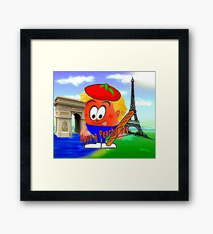 Peachy in France Framed Print