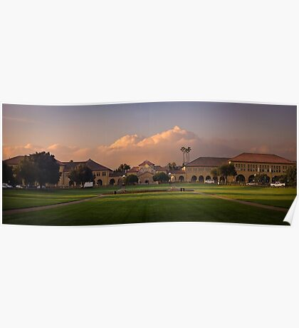 Stanford at sunrise Poster