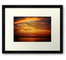 Sunset ~ Dramatic and Romantic Framed Print