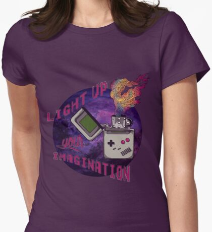 Light up your imagination ! Womens Fitted T-Shirt