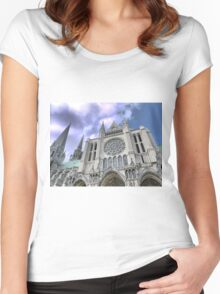 Chartres Cathedral  (1) Women's Fitted Scoop T-Shirt