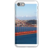 Golden gate bridge and a container ship iPhone Case/Skin
