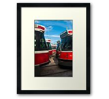 Bumper To Bumper Traffic Framed Print