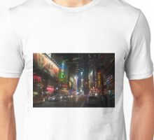 42nd Street Times Square At Night Unisex T-Shirt