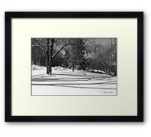 That Cold Winter Sun ~ On Snow Framed Print